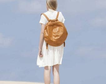 Sale, Brown Leather Backpack, School Backpack, Backpack for Women, Leather School Bag, Womens Backpack, Brown Leather Bag