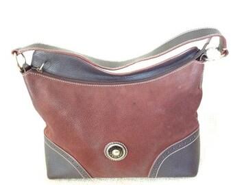 20% SUMMER SALE Vintage DOONEY & Bourke Awl brown leather shoulder bag