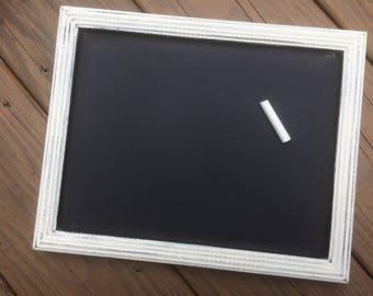 Chalkboard, framed chalkboard, photo prop, first day of school, shabby chic chalkboard, White chalkboard, chalkboard sign, wedding sign, 039