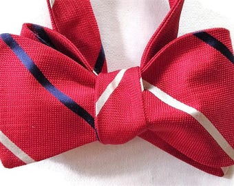 Silk Bow Tie for Men - Scholastic - One-of-Kind, Handcrafted, Self-tie - Free Shipping