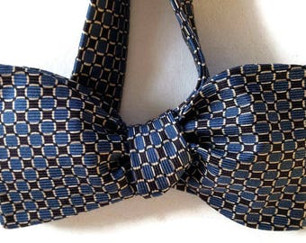 Silk Bow Tie for Men - Barrister -One-of-a-Kind, Self-tie - Free Shipping