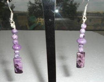 Boucles d'oreilles sugilite purple