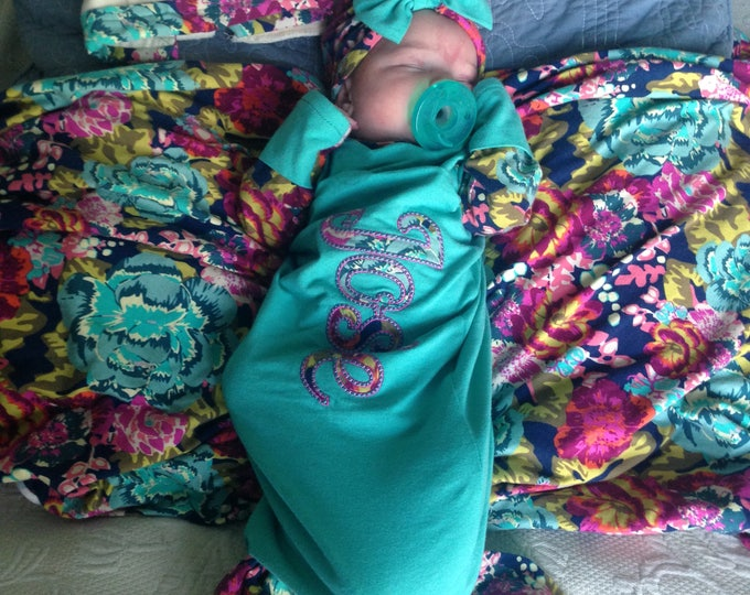 Mermaid Baby Gown Set / Art Gallery knits/