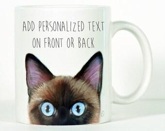 Siamese cat mug | Etsy