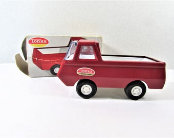 Tiny Tonka Red Pickup Truck NO. 515 With Box Vintage Toy