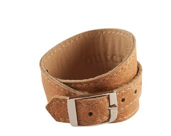 Crop Cuff in Vintage Light Tan leather