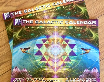 The Galactic Calendar - 13 Moon / 28 Day Ancient Calendar featuring 13 Visionary Artists - a guide to tuning into ancient galactivations