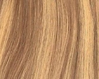 "Miss Flirty Remy Hair Extensions Clip-In 22"" Long Brown/Blonde Mix #7/14"