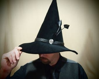 """Wizard Hat """"Oliver"""" One of a Kind, Handmade"""
