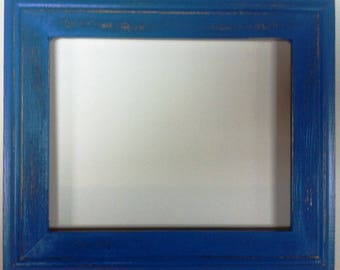 """1-3/4"""" TN OKC Blue Distressed Picture Frame"""