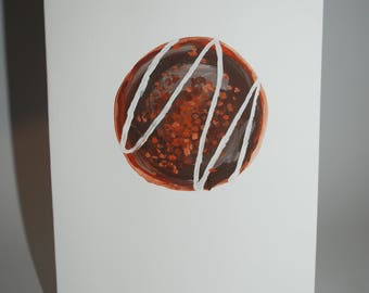 Handpainted Donut Greeting Card