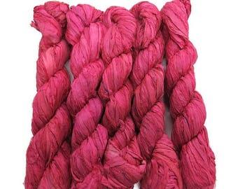 SALE New! Sari Silk Ribbon, 100g ,Lipstick