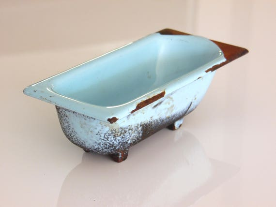 Antique Enamel Bathtub Enamel Soap Dish Shabby Chic Home