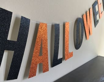 Happy Halloween, Halloween, Halloween Banner, Halloween Decor, Glitter Banner, Halloween Decoration, Trick or Treat, Trick or Treat Banner