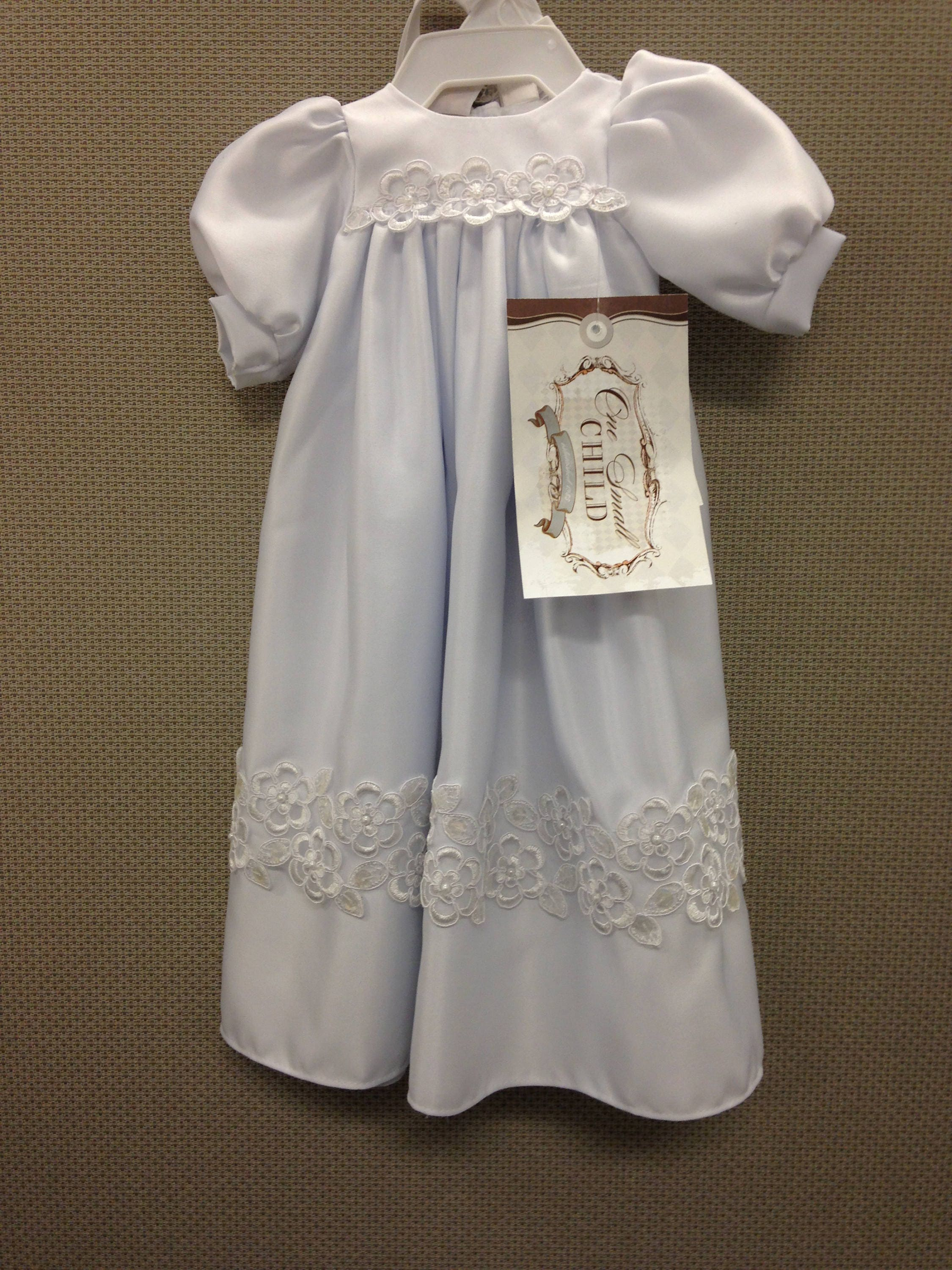 Little Olivia Preemie Gown, Preemie Satin Christening Gown, Blessing ...