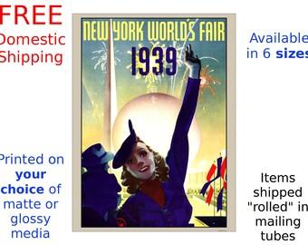 1939 New York Worlds Fair #2 - Vintage Art Deco Poster/Print (186869567)