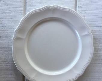 Vintage Ironstone white platter, large chop plate Federalist Ironstone platter Japan made, Mid century white serving platter, antique plate