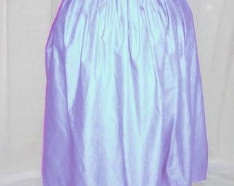 18th Century Woman's Solid color Petticoat - Light Blue
