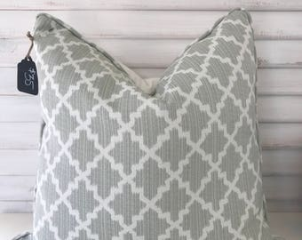 Sage Green Moroccan Pillow Cover