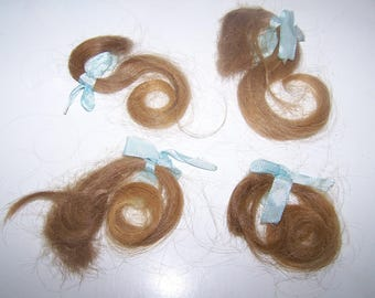 This Is My Last  Collection of Victorian Era Locks of Human Hair A Token of Love