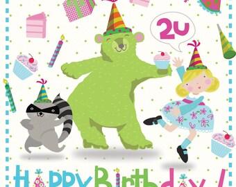 Happy Birthday 2 U - Art Print