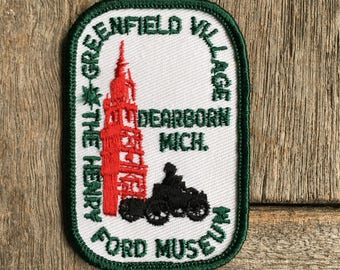 Greenfield Village The Henry Ford Museum Dearborn Michigan Vintage Souvenir Travel Patch by Voyager