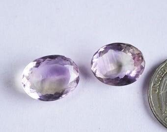 2 Pcs Real Ametrine Faceted cut Gemstone,Normal cut Ametrine Gemstone,15x12mm,20Cts Ametrine Jewelry,Genuine Ametrine#5784