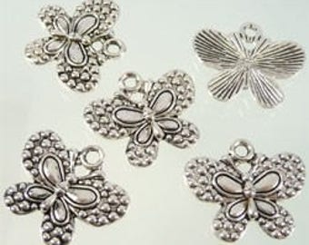 3 charms Butterfly 25 x 21