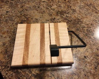 Handcrafted Cheese Slicer, Maple and Mahogany