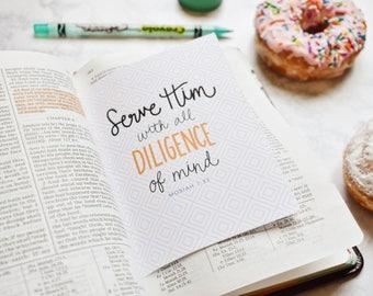 Pretty Study Sheets Scripture Glue Ins, Scripture Inserts, LDS Tools, Mormon Scripture Study - Christ Centered Scripture Study PRINTABLE