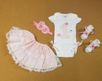 First Birthday Month. 4 PIECES. All Sizes. MILESTONE Outfit.