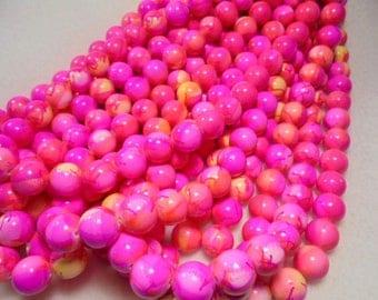 Mashan Jade, Pink, 12mm, 1 Strand