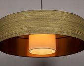 Lámpara de Techo rallas negro/oro Kabuki  Diametro 50cm altura 13cm