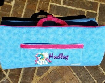 Girls My Little Pony nap mat with attached Blanket and Pillow