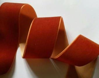 3 yards 1.5 inches Velvet Ribbon in Copper RY15-114