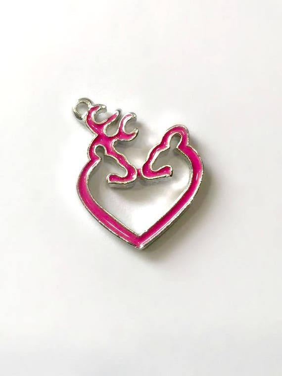 pink browning heart symbol charmbrowning heart charm