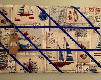Nautical boat print memory board
