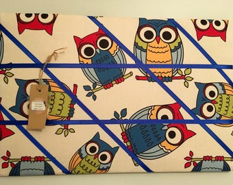Blue Owl print memory board