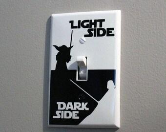 Light Side Dark Side Light Switch Plate - Bedroom Decor