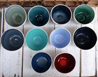 Ciotole in porcellana / japanese tea bowls / tea time / handmade tea cups / porcelain cups / porcelain colored bowls