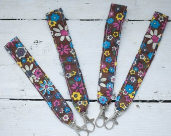Handmade floral wrist lanyard