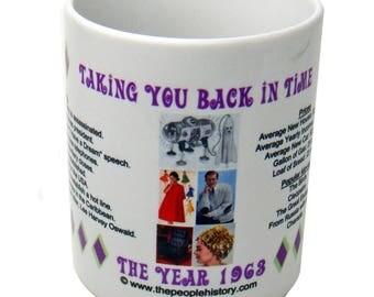 1963 Taking You Back In Time Coffee Mug