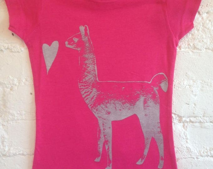 LLAMA LOVE Short sleeve T shirt KID soft cotton