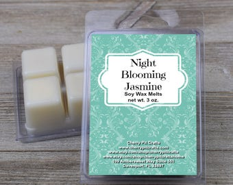 Night Blooming Jasmine Soy Wax Melts - Handmade Soy Wax Melts