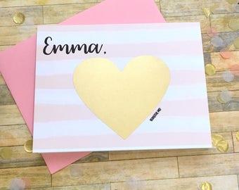 Flower Girl Proposal Scratch Off Card - Personalized Will You Be My Flower Girl Scratch Off - Unique Proposal Card Bridesmaid JUBILEE
