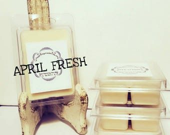 April Fresh, clean laundry, soy wax melts, Laundry scent, fresh scent, Fresh laundry, April Fresh Candle, April fresh melts, FREE shipping