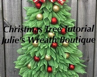 Christmas Tree Tutorial, DIY, Christmas Wreath Tutorial, Video Tutorial, Make Your Own Wreath, Christmas Tree