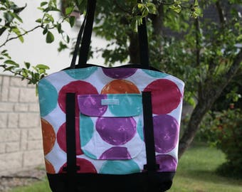 Large colorful beach bag