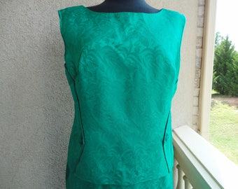 Royal Lynne Emerald Green 2 Pc Dress