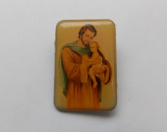Religious Pin. Religious Brooch. Christian Pin. Christian Jewelry.
